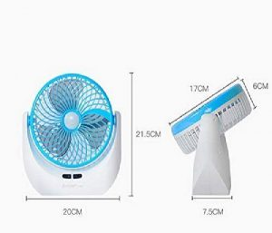 Piesome LED Light Rechargeable Fan