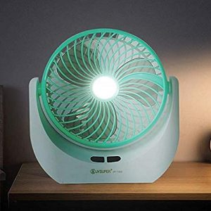 WOZIT Led Light Powerful Battery Rechargeable Table Small Fan