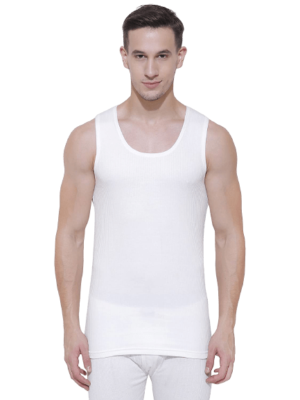 Bodycare Off White Solid Men Thermal Top removebg preview
