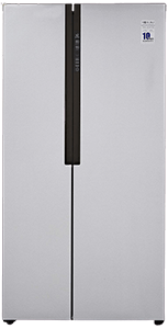Haier 565 L Inverter Frost-Free Side-By-Side Refrigerator with Twin Inverter Technology (HRF-619SS, Silver)