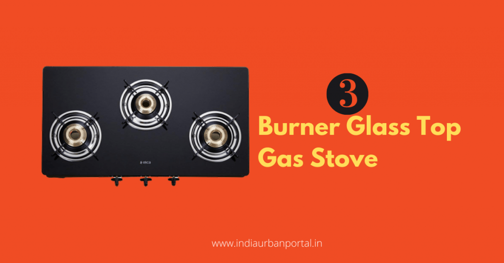 3 Burner Glass Top Gas Stove in India