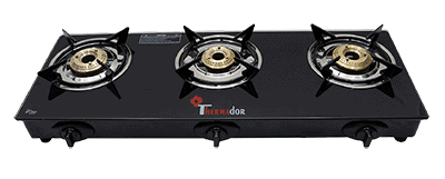 Thermador Toughened Glass Top 3 Burner Gas Stove